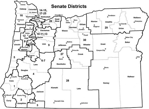 Oregon legislative map