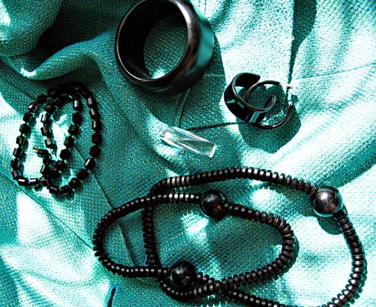black accessories -sharp