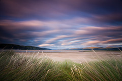 Everyone else had gone home (izzy's-photos) Tags: longexposure sunset sky beach clouds searchthebest cloudscapes ynyslas marramgrass mywinners