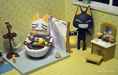 Look who is up to no good, again? / Explored (aka*kirara) Tags: house bathroom families cottage rement kuro toro sylvanian revoltech