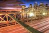 American Greatest  bridge and buildings (Tony Shi Photos) Tags: new york city nyc bridge urban ny skyline brooklyn night lights photo long exposure downtown br traffic photos manhattan district lower financial hdr nuevayork 纽约 大橋 紐約 布魯克林 布魯克林大橋 نيويورك nikond700 ньюйорк 뉴욕주 tonyshi ניויאָרק