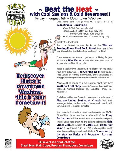 Waxhaw first friday flyer August 2010