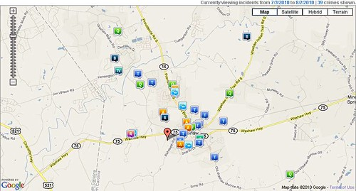 Waxhaw July 2010 Crime Report