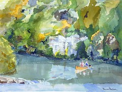 Buffalo River Steel Creek (Henwaddle) Tags: river watercolor painting buffalo floating canoe steelcreek