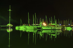 night_(5_of_11) (Gary Cherry (.Tonka)) Tags: reflection green marina boats lights mirror coast landscapes boat nikon harbour jetty lakedistrict cumbria crowsnest nikkor dslr whitehaven snappers aquaria d90 beautifulcapture colorphotoaward whitehavenmarina landscapedreams whitehavensnappers 18mm105mm