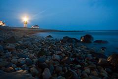 Point Judith Light (.:Brian Smith:.) Tags: ri blue lighthouse rock point island evening rocky hour judith rhode beachshore