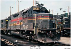 CRR GP38-2 6002 (Robert W. Thomson) Tags: railroad train diesel tennessee railway trains locomotive trainengine erwin geep crr emd gp382 gp38 clinchfield familylines fouraxle familylinessystem