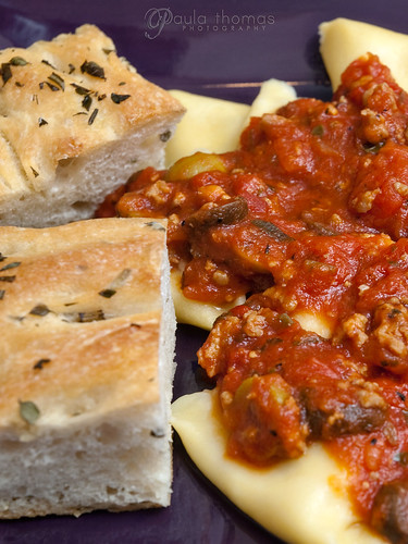 Herbed Focaccia and Ravioli