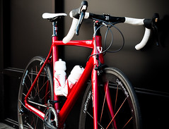 Red Bike Black Wall