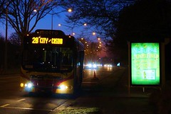 Early Bus (Djuma2010) Tags: newzealand christchurch canterbury broughamstreet