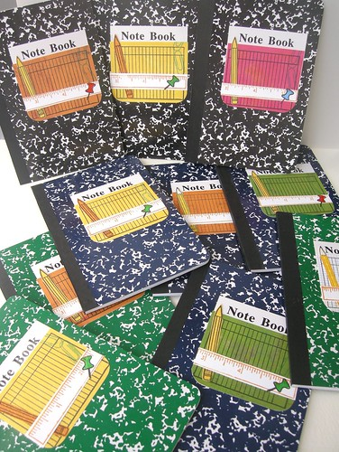 So many note books!