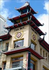 Chinatown Ba Gua Trigram (Taoist Cosmology) (Tony Fischer Photography) Tags: sanfrancisco california tower clock chinatown symbols tao taoist bagua octogan