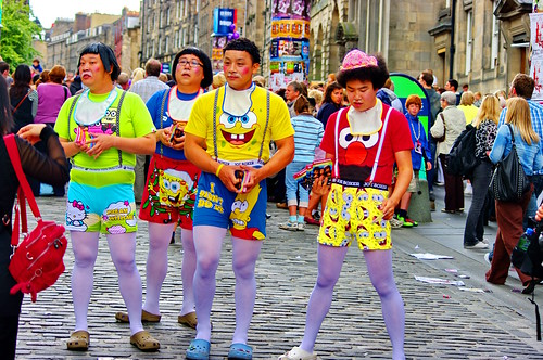 Edinburgh, Edimbourg, Scotland, The Fringe dans High street 9
