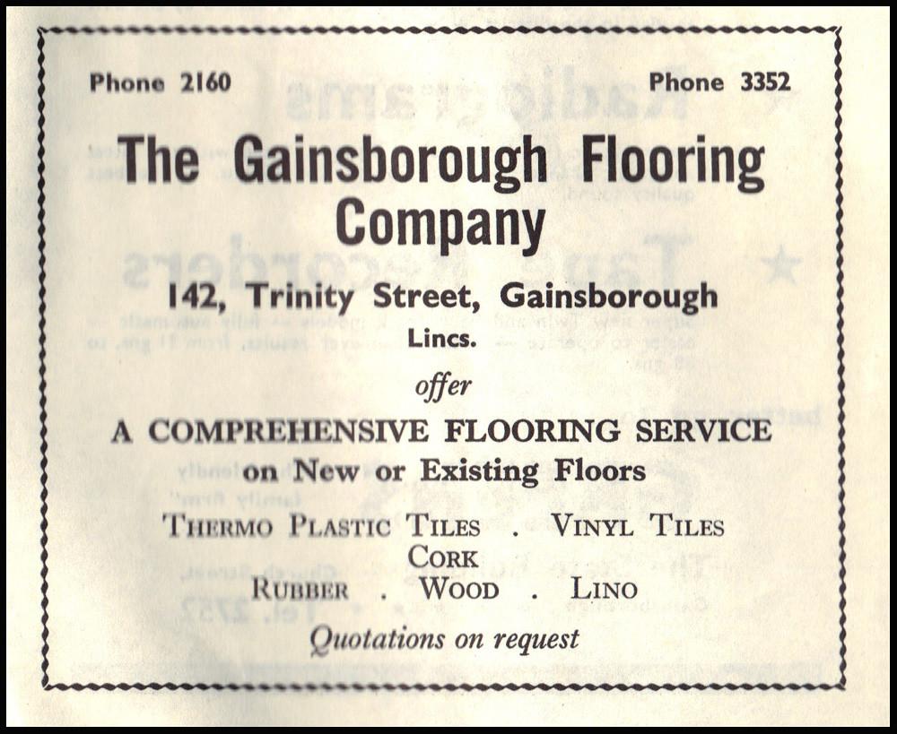 Vintage Advertisement: The Gainsborough Flooring Company