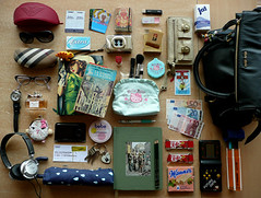 What's in my bag?! (Celestepalacios) Tags: bag book kitty sartre miu