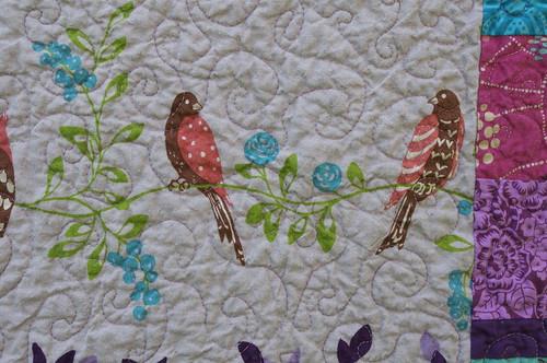 quilted linen birds