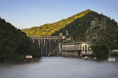 "The ""Fugitive"" Dam (Pheno Me Non) Tags: mountains water fog architecture landscape nikon dam harrisonford parks motorcycles engineering northcarolina reservoir hollywood electricity extremesports nationalparks smokies tva hdr floods moviescene sportscars dealsgap appalachianmountains thegreatsmokymountains enthusiasts tommyleejones thefugitive d90 nationalforests littletennesseeriver hydroelectricity hwy129 nantahalanationalforrest thetailofthedragon santeetlahlake cheoahriver cheoahdam tapocoriver"