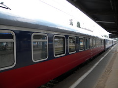 Train at Warszawa Wschodnia (Timon91) Tags: station train poland railway warsaw warszawawschodnia trainamsterdammoscow