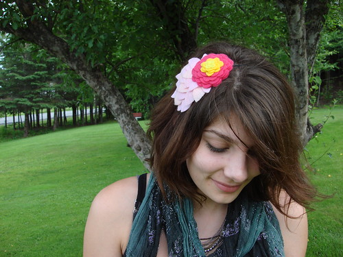 blossom + leaves headband