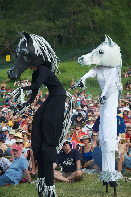 Oh, just some massive dancing horses on stilts. No Biggie.