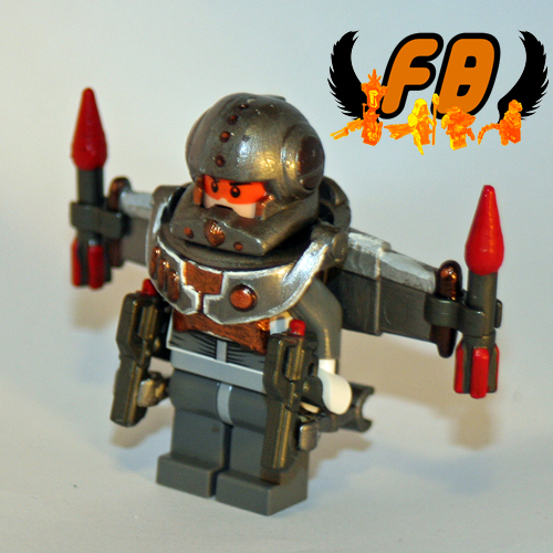 Big Red Buttons Jet Trooper Front
