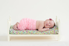 b.e.d. ({{Jessica}}) Tags: pink baby girl one bed little antique tiny newborn backdrop bone seamless petti