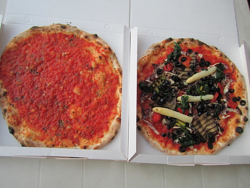 Vegetable Pizza and Marinara Pizza