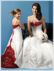 Wedding dress with beautiful embroidery and color