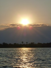 Sunset on the Zambezi, Zimbabwe (David & Cheryl M) Tags: bridge hotel victoria falls zimbabwe victoriafalls jules julesverne voyages verne leadinghotels vjv chidobe