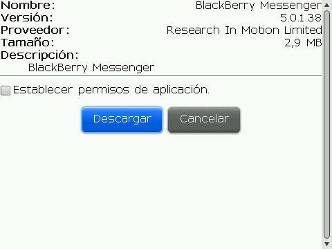 Descarga BBM