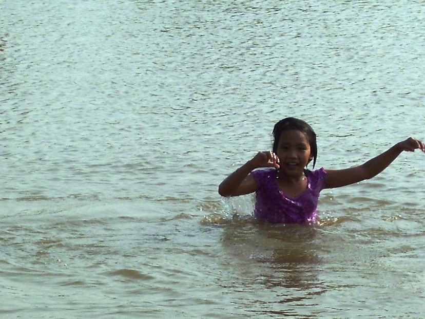In the water, Kompong Chhnang