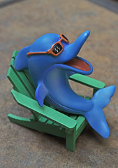 Happiness is . . . Being a Dolphin in an Adirondack Chair! (BKHagar *Kim*) Tags: blue green sunglasses relax toy al chair dolphin alabama happiness poolside adirondackchair athensal kdolphin bkhagar
