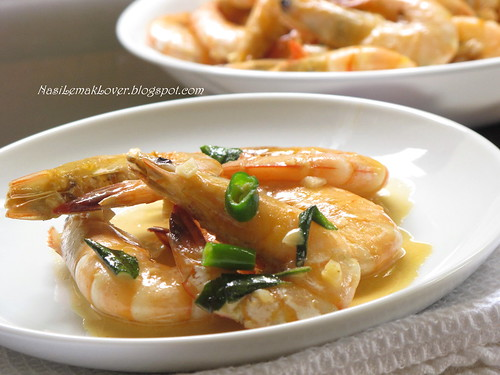 Stir-fried butter sauce prawns