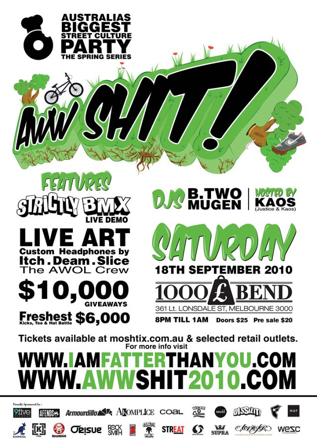 Aww Shit Spring Series EFLYER