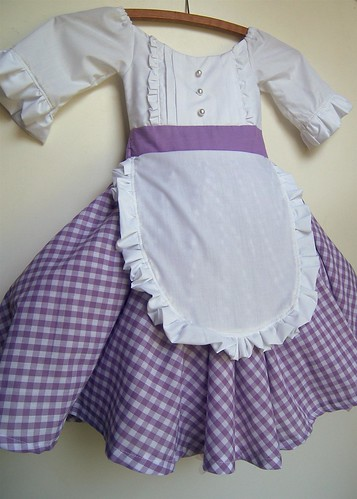 Dress costume for Little Bo Peep, Goldilocks, Little Miss Muffet, one of the girls from Little House on the Prairie, American Girl's Felicity, Jill (of Jack and Jill)