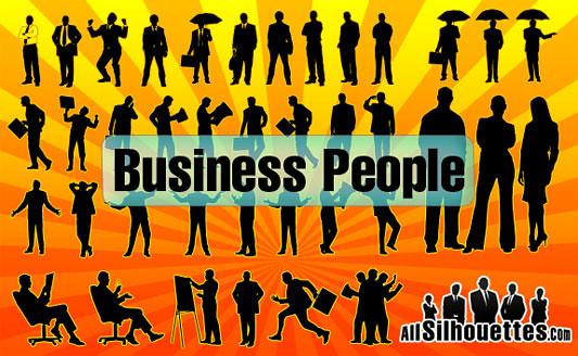 Click en la imagen para descarga Siluetas en formato vector - 40 empresarios