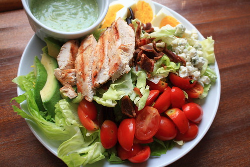 Life's Too Short to Eat Fat Free Cheese: Grilled Chicken Cobb Salad