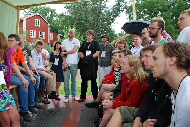 Diskussion om elitism i sociala medier på Sweden Social Web Camp 2010