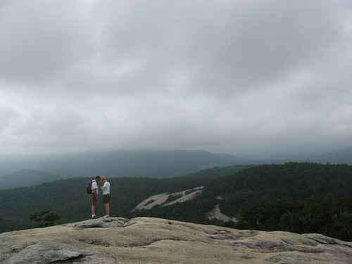 Cloudy day at Stone Mountain summit
