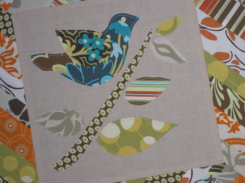 SNTM VQBee Block for Lisa - bird on branch