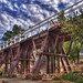 Heritage Square Railroad Trestle by bridgepix