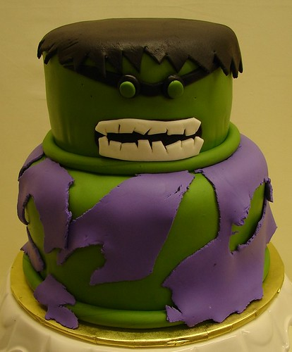 Incredible Hulk Birthday Cake