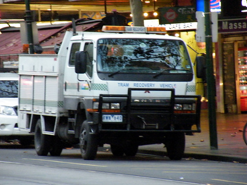 Mitsubishi Canter Recovery Truck. Yarra Trams Mitsubishi Canter tram recovery vehicle