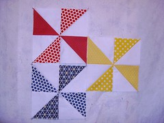 Primary Pinwheels for Allison (Sew Joy Sarah) Tags: pinwheelblock quiltbeeblock sewmodernbee