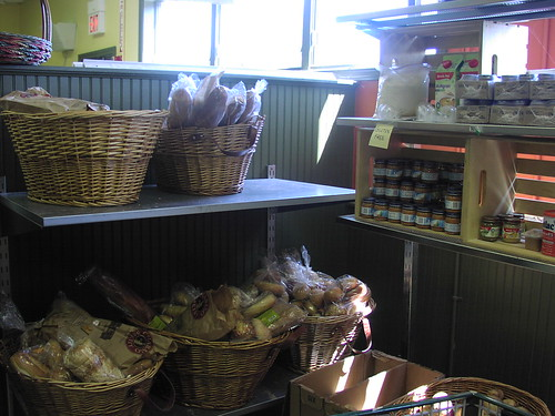 The Gloucester food pantry is set up like a grocery store for the convenience of recipients.