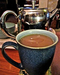 Today's Photo (230/365) (Irene's Daily Pics is now a Page on Facebook) Tags: cup reflections stainlesssteel tea beverage mug teapot 365 cupoftea mugoftea canonpowershotsx210is