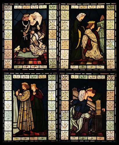 Stained glass - King Rene's honeymoon