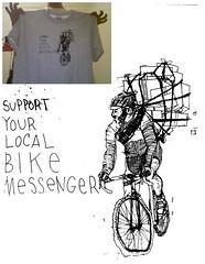 shirts & prints done! (badzine) Tags: bike shirt print tim support screenprint screen richmond your va lamb messenger local courier tote