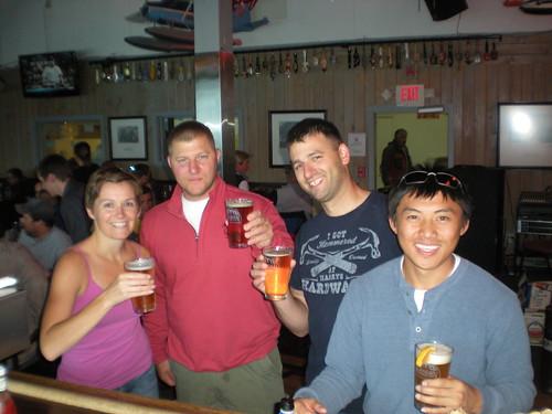 at The Hangar with Rory, Chris and Nao