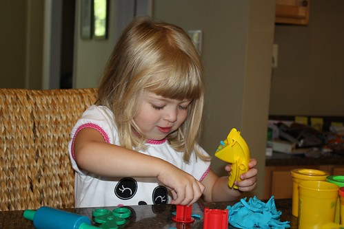 Catie loves Play-Doh